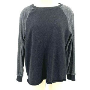 American Eagle Terry Cloth Velvet Sleeves Pullover